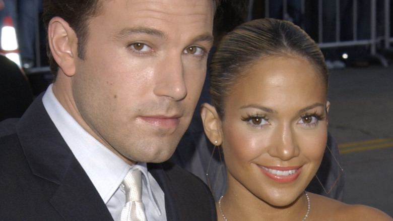 Ben Affleck and Jennifer Lopez in the early 2000s