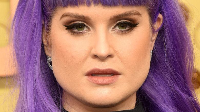 Kelly Osbourne staring