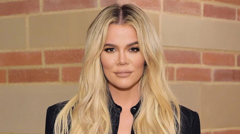 Khloe Kardashian smiling