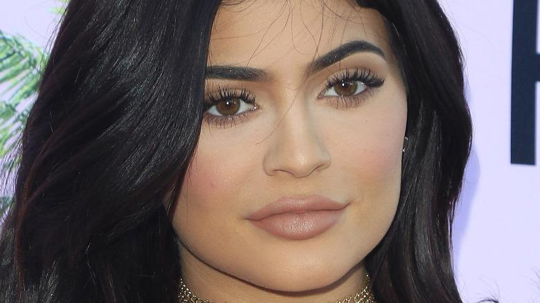 Kylie Jenner slightly smiling