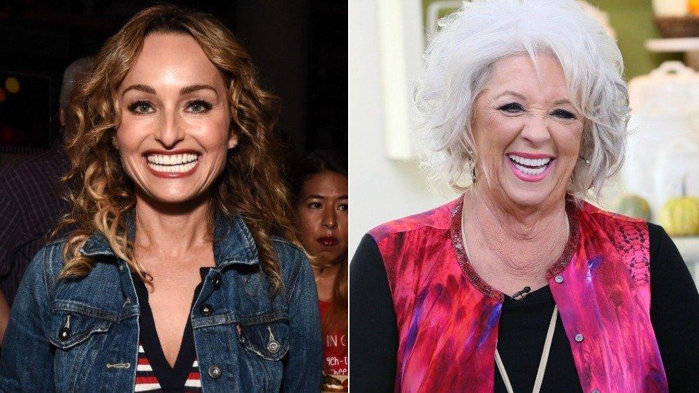 Split image of Giada De Laurentiis and Paula Deen, both smiling big