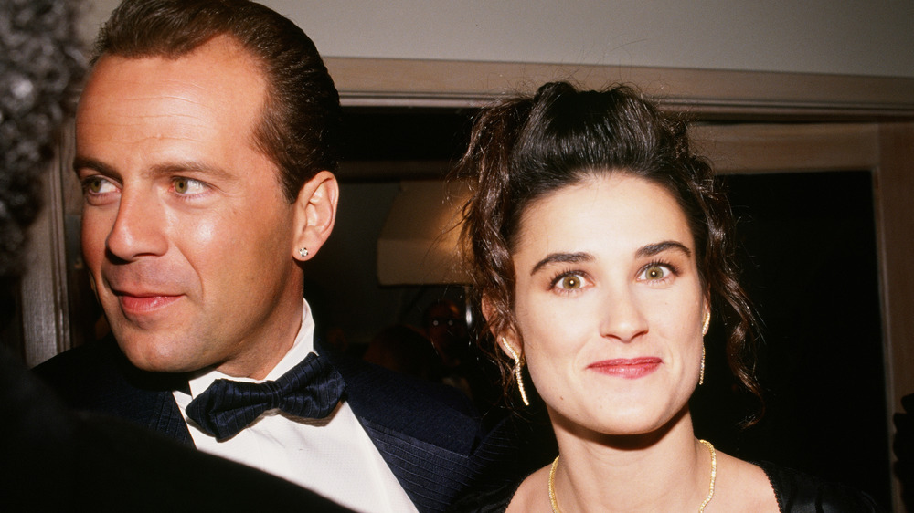 Bruce Willis and Demi Moore take a picture together