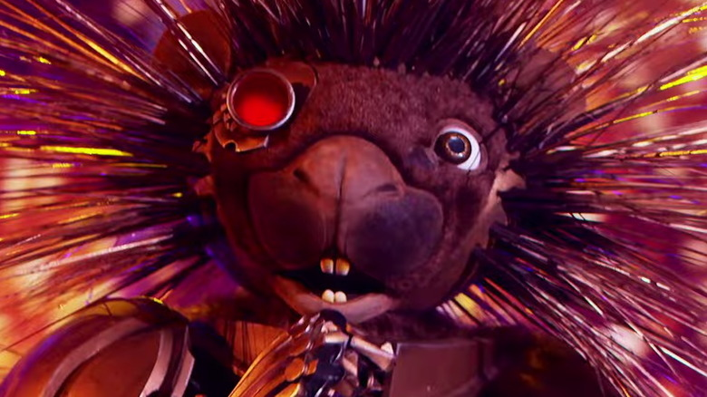 The Masked Singer's Robopine performing on stage