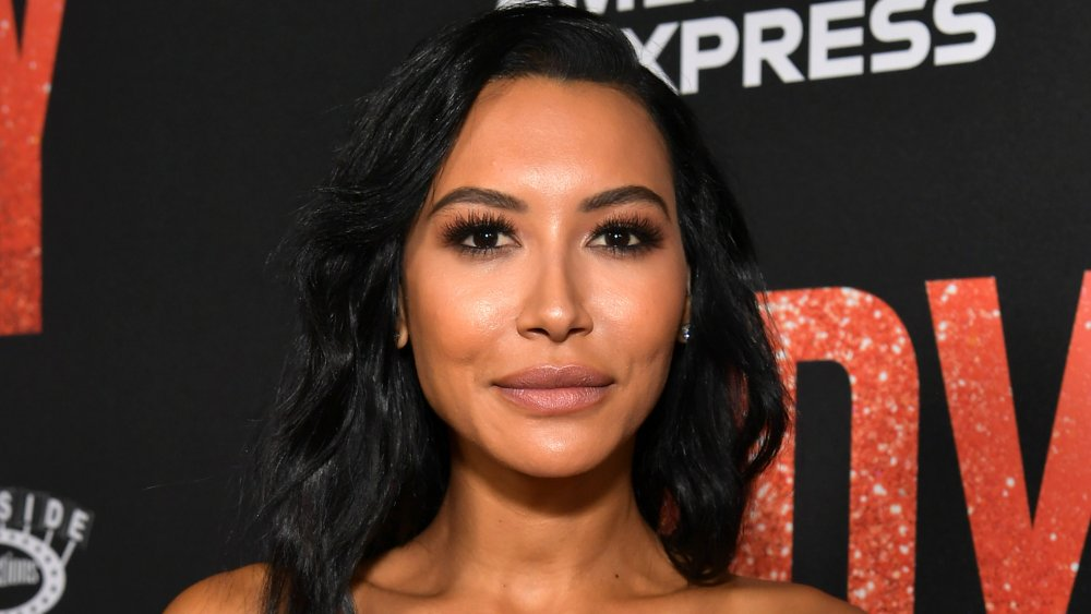 Naya Rivera posing on the red carpet of a premiere