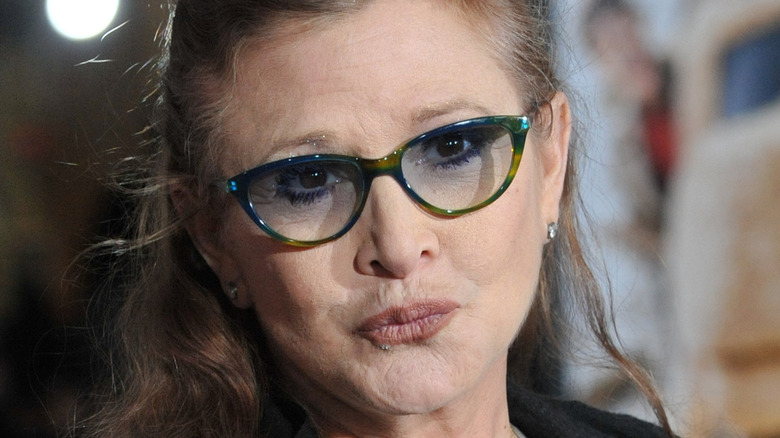 Carrie Fisher Dumb Dumber premiere