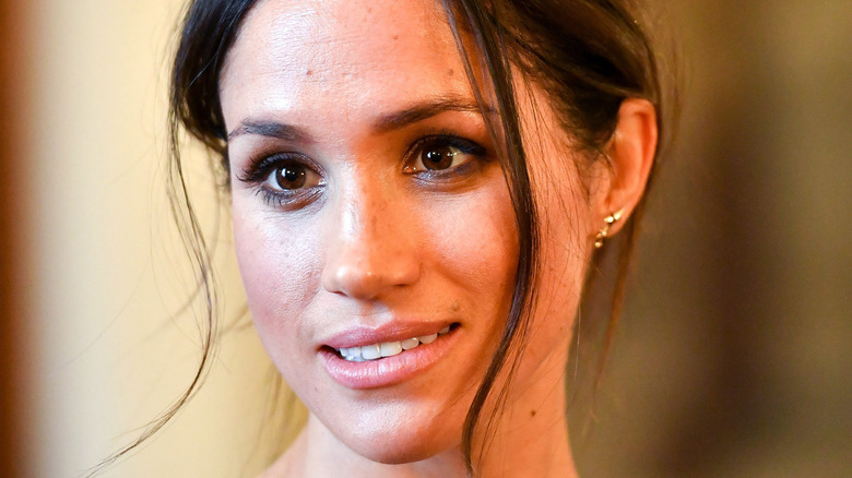 Meghan Markle during a visit to Cardiff Castle on in 2018 in Cardiff, Wales.