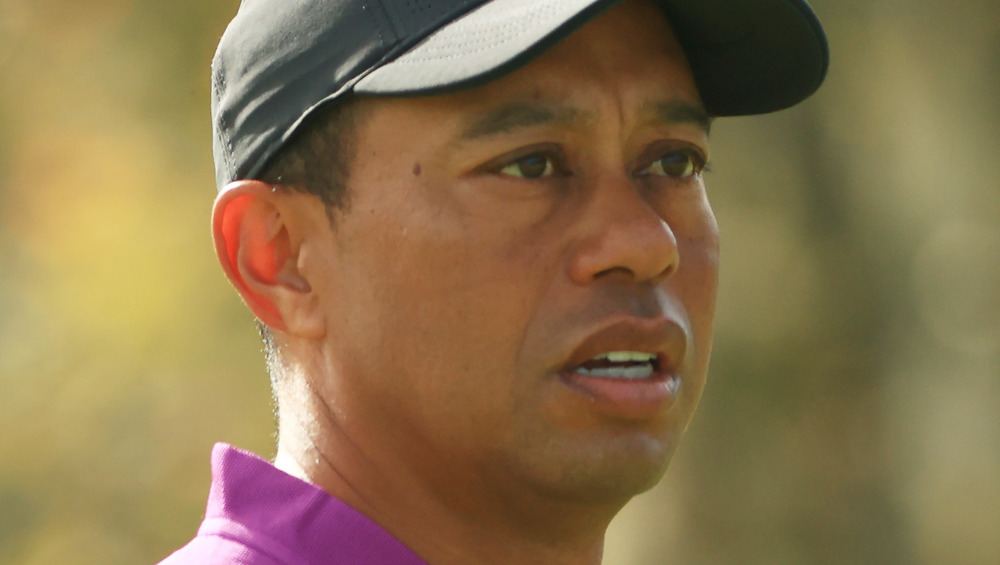 Tiger Woods playing golf