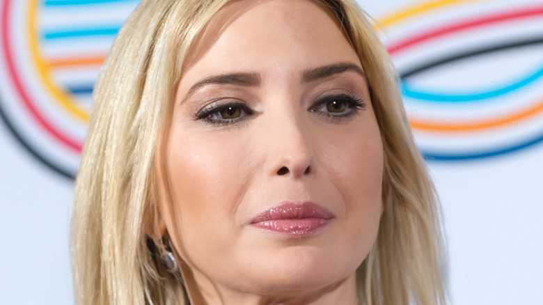 Ivanka Trump looking off to the side