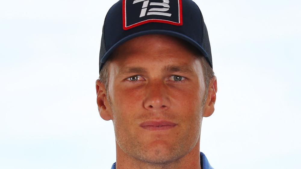 Tom Brady looking serious