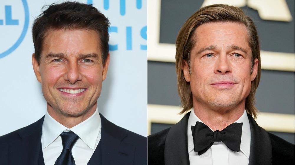 Tom Cruise and Brad Pitt smiling