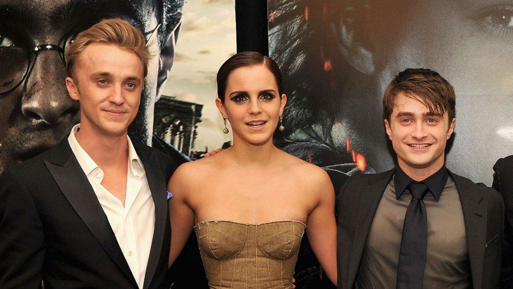 Tom Felton, Emma Watson, and Daniel Radcliffe