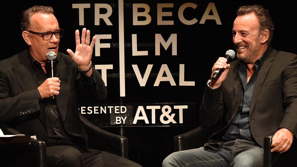 Tom Hanks and Bruce Springsteen talking