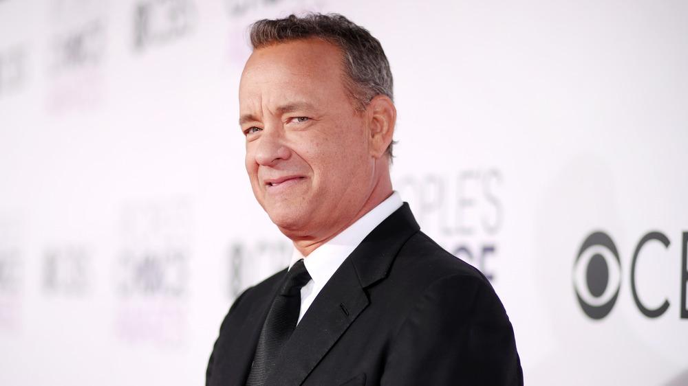Tom Hanks, posing