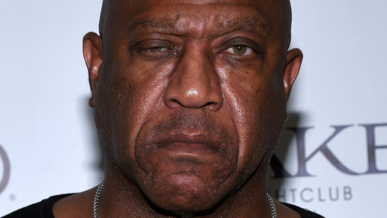 """Tommy """"Tiny"""" Lister on a red carpet in 2015"""