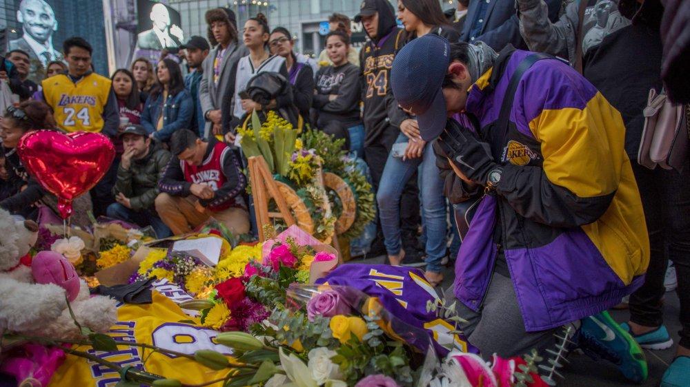 Kobe Bryant memorial outside Staples Center