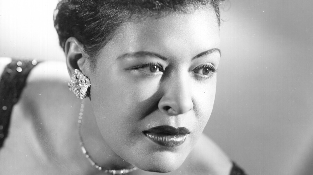Billie Holiday looking away