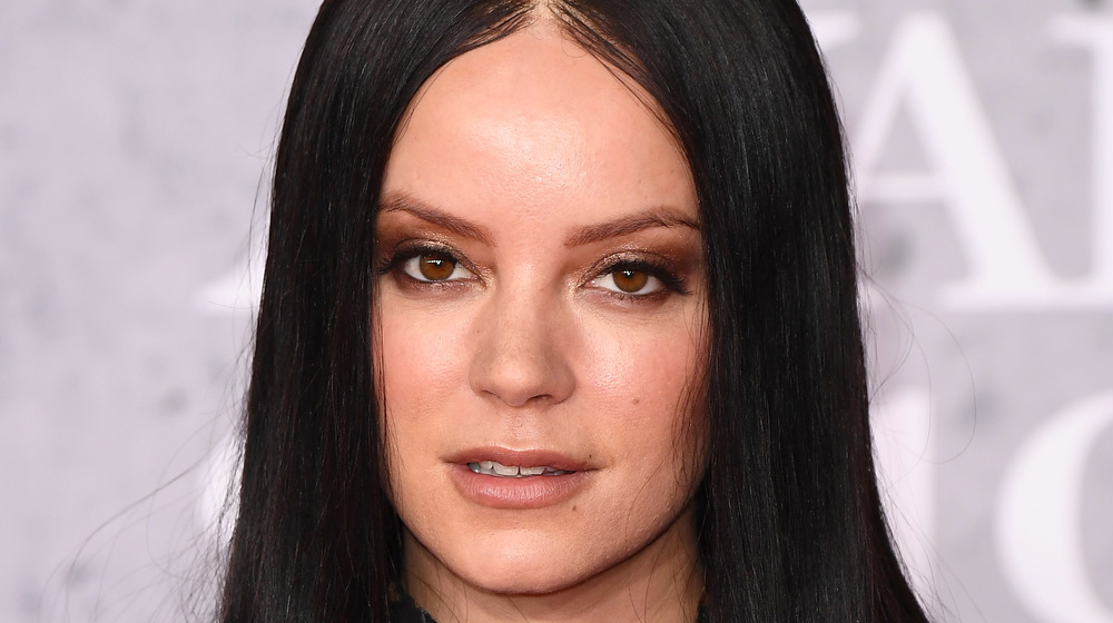 Lily Allen looking at camera