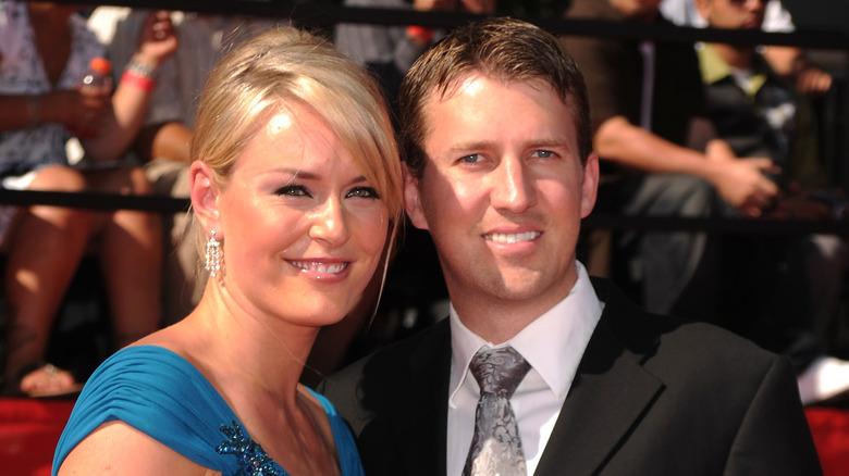 Lindsey Vonn and Thomas Vonn smiling