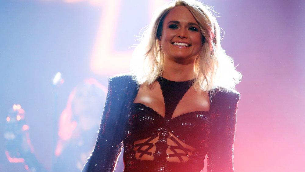 Miranda Lambert smiling on stage