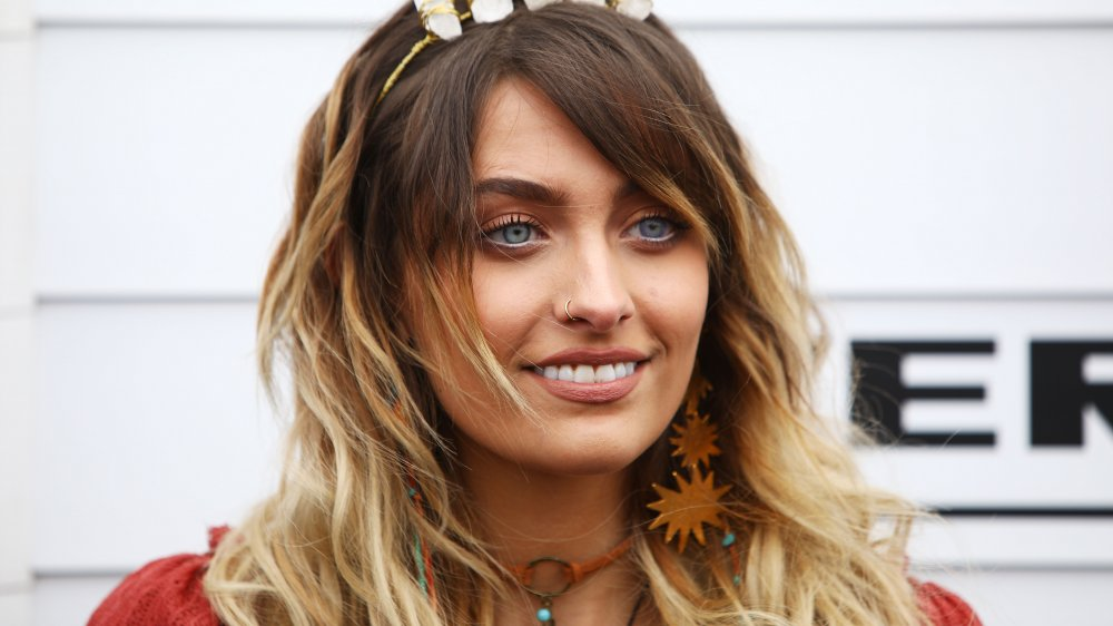 Paris Jackson with headband and nose ring