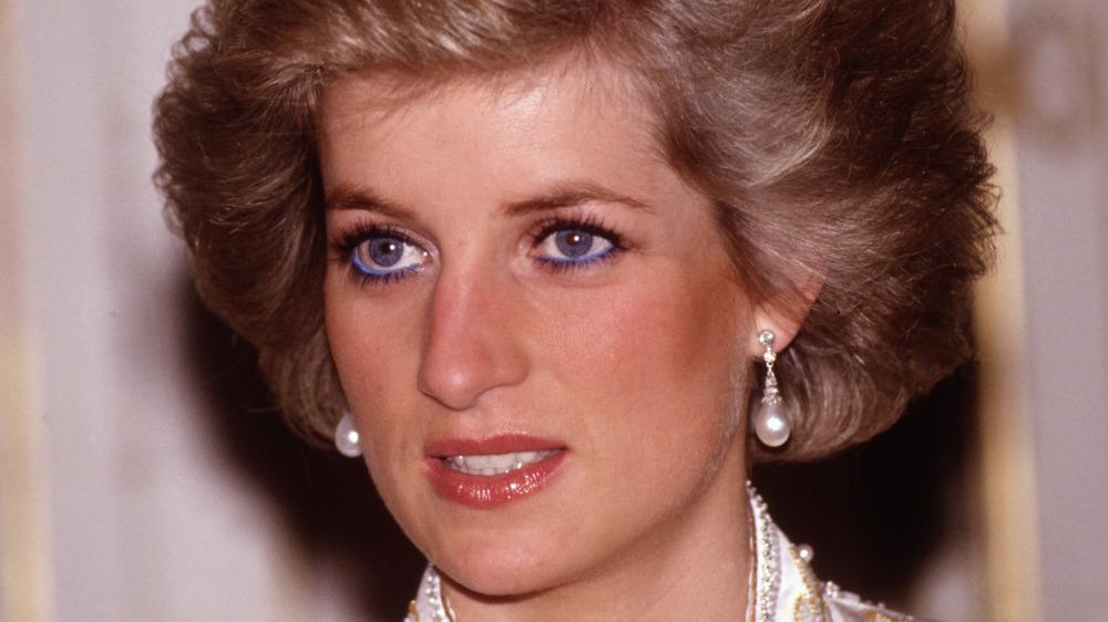 Princess Diana during Royal Tour of France