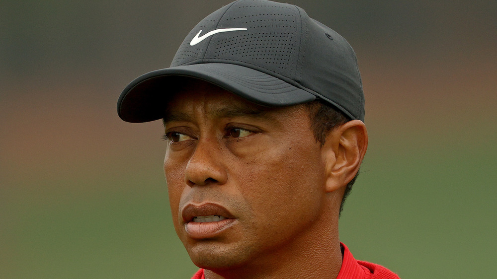Tiger Woods on the golf course