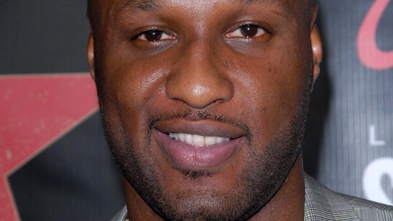 Lamar Odom smiling
