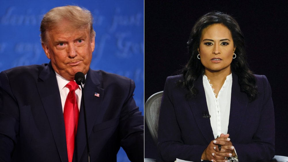 Donald Trump and Kristen Welker at final presidential debate