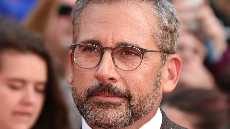 Steve Carell with glasses on