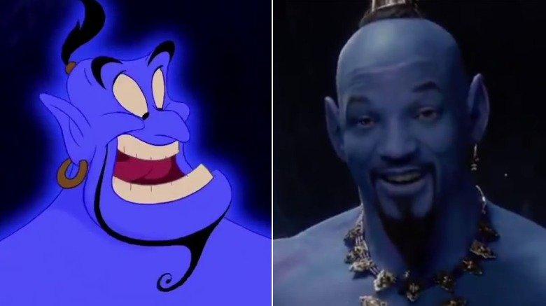 Genie in 1992's Aladdin/Will Smith as Genie in 2019's Aladdin