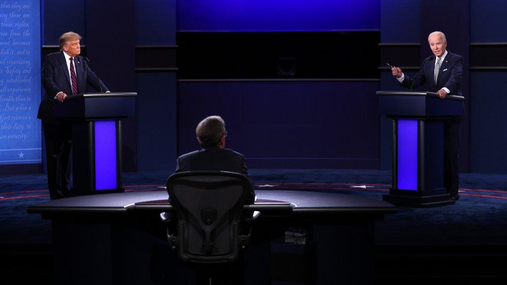 Donald Trump, Joe Biden, Chris Wallace at the debate