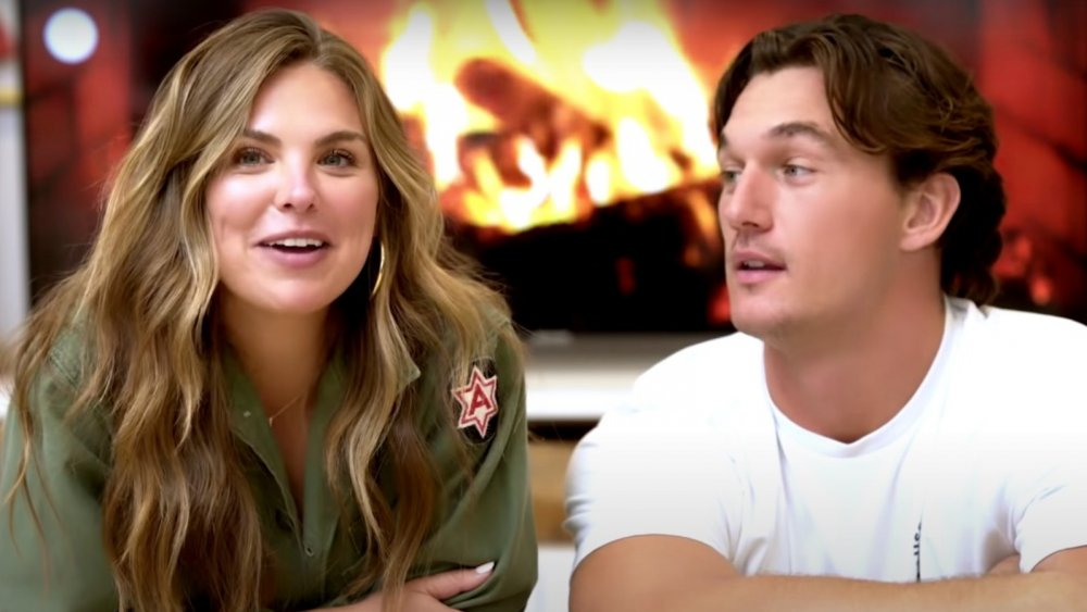 Hannah Brown and Tyler Cameron in a still from a YouTube special