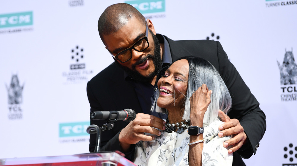 Tyler Perry & Cicely Tyson smiling