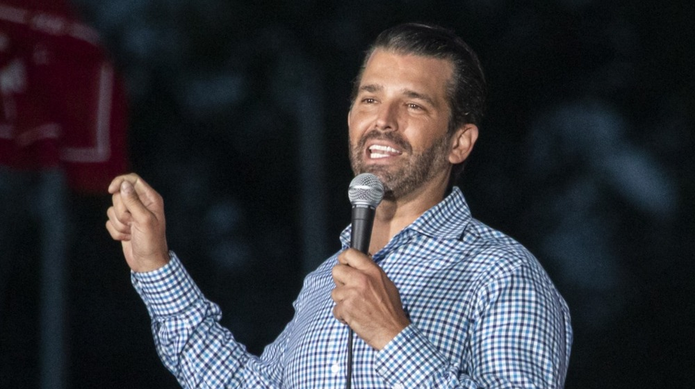 Don Trump Jr. speaking at an event
