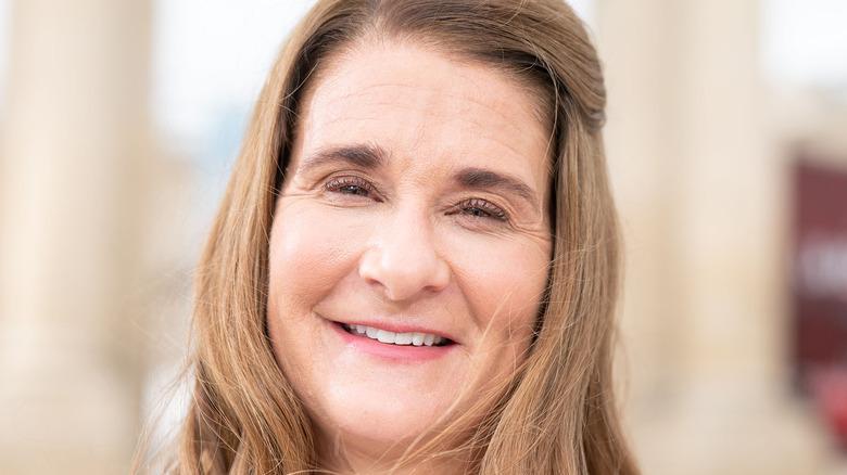 Melinda Gates smiling at camera