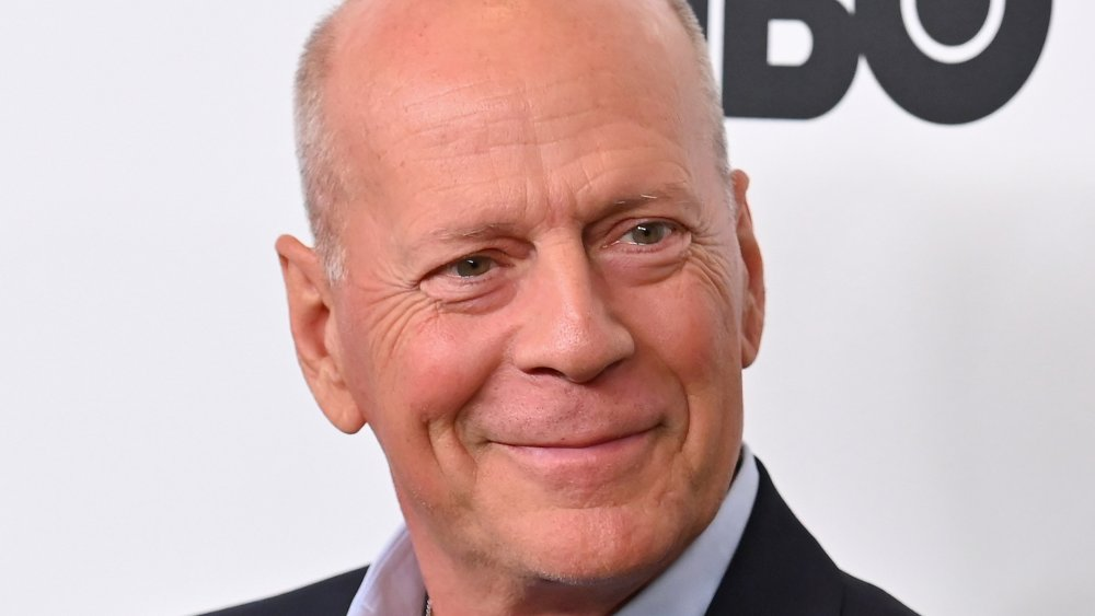 """Bruce Willis attends the premiere of """"Motherless Brooklyn"""" during the 57th New York Film Festival at Alice Tully Hall"""