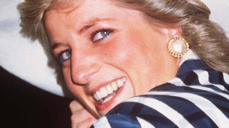 Princess Diana striped jacket