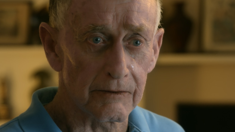 Michael Peterson with tear and solemn expression
