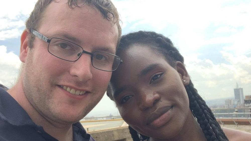 Benjamin Taylor poses with Akinyi Obala