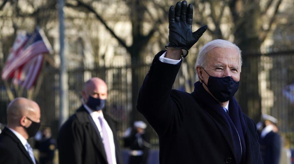 Joe Biden waving