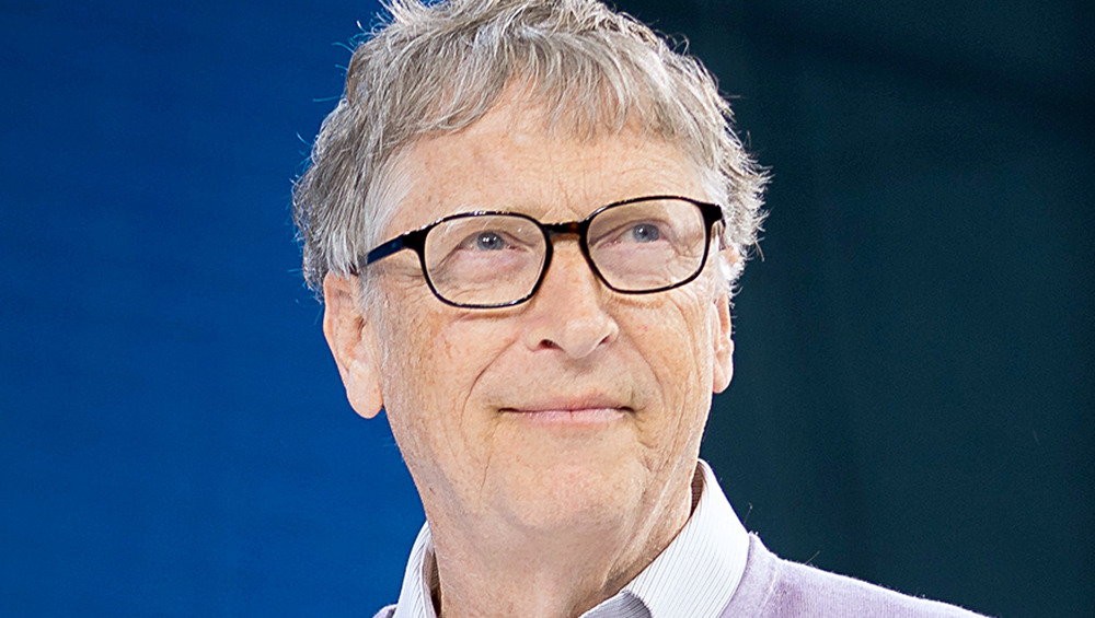 Bill Gates wears glasses at a 2019 event