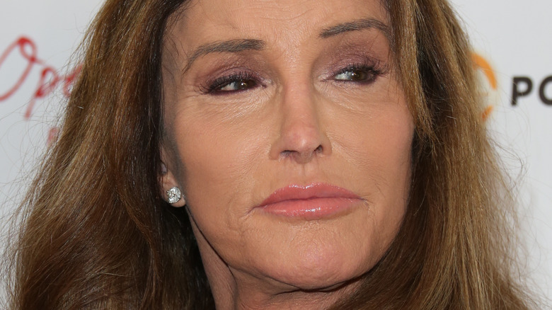 Caitlyn Jenner looking to the side