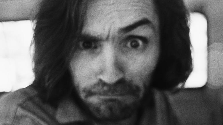 Charles Manson eyebrow raised
