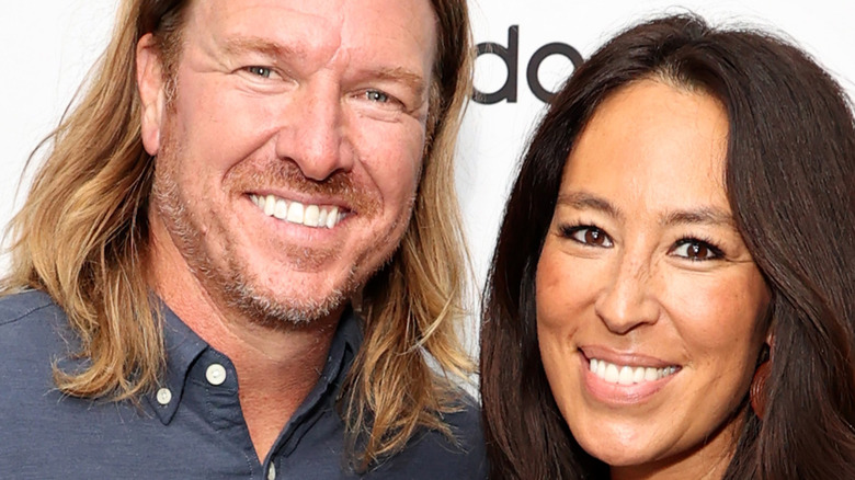 Chip and Joanna Gaines smile