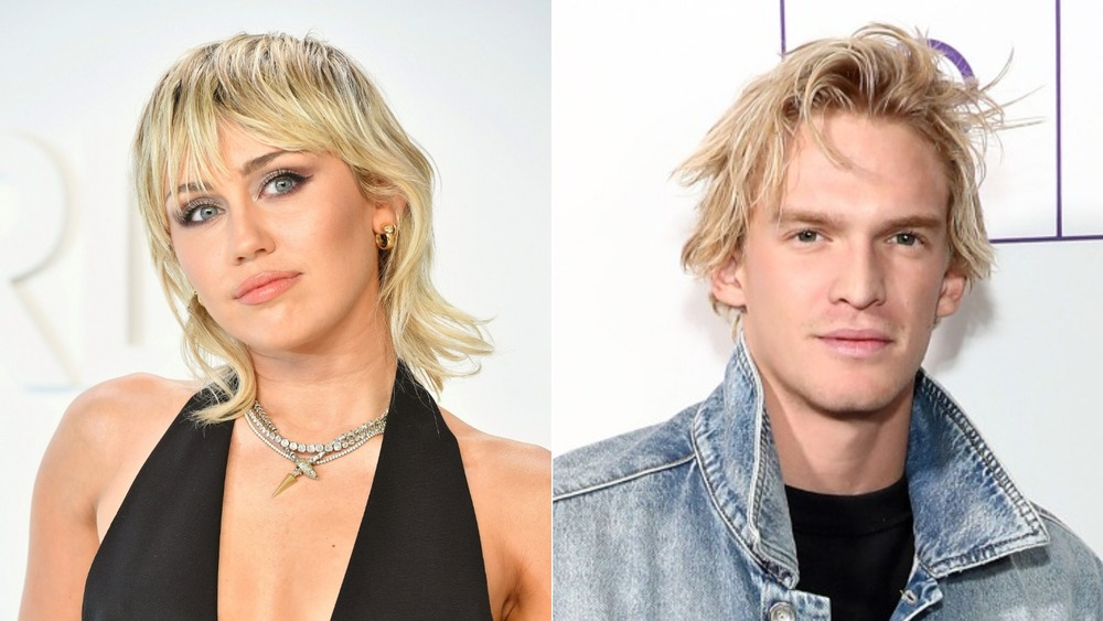 Miley Cyrus and Cody Simpson side-by-side