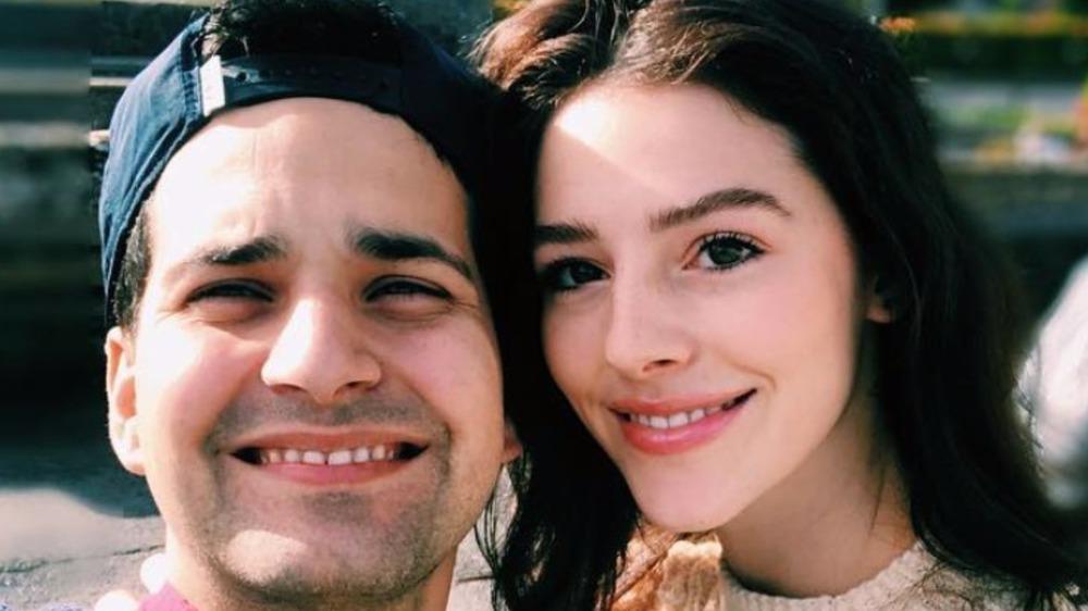 David Vázquez Zermeño and Evelyn Cormier pose for a selfie