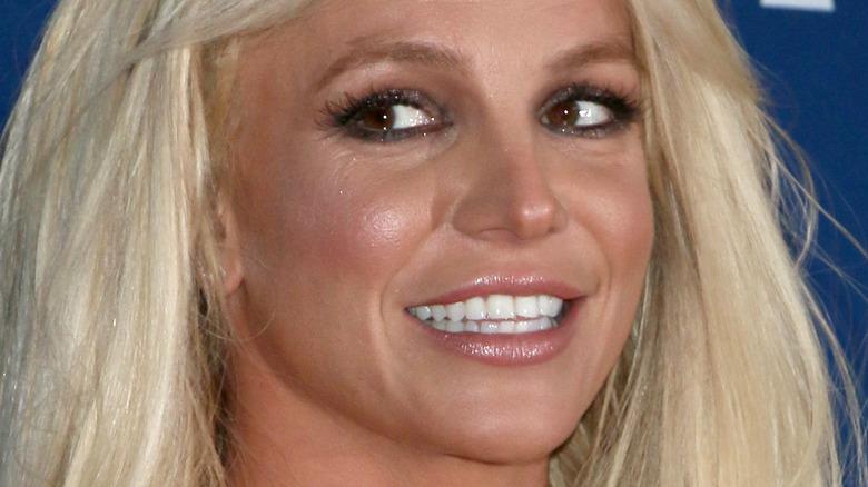 Britney Spears gazing to side