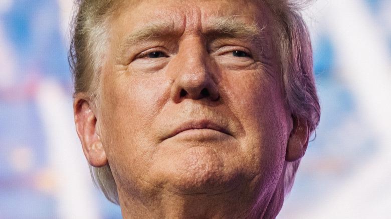 Donald Trump posing