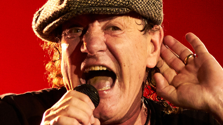 Brian Johnson on stage in 2015