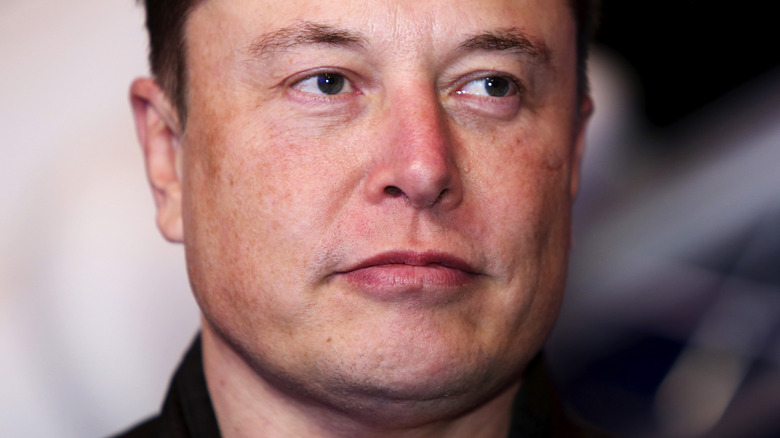 Elon Musk with serious expression